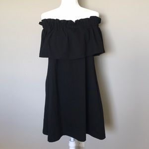 H&M Black Strapless Dress Size 10 NWOT